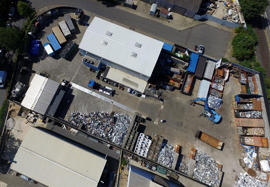 Luftaufnahme der PARKMO Metalle & Edelmetalle GmbH